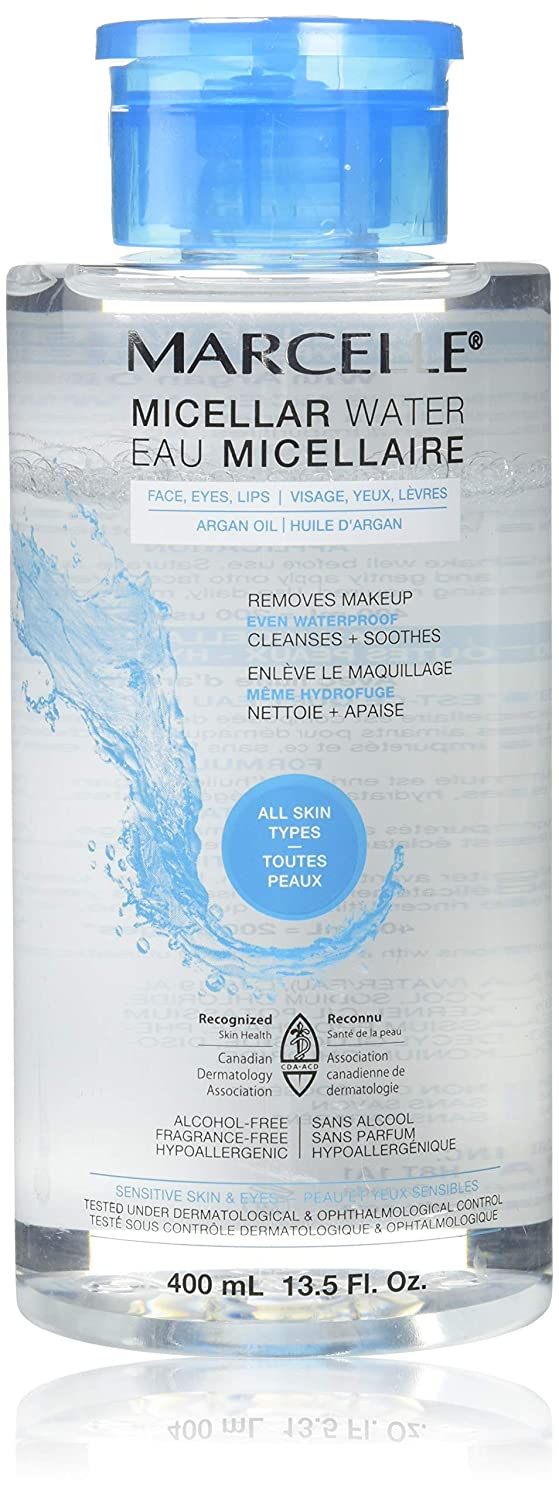 Marcelle Micellar Water - Waterproof, Hypoallergenic and Fragrance-Free, 13.5 fl oz
