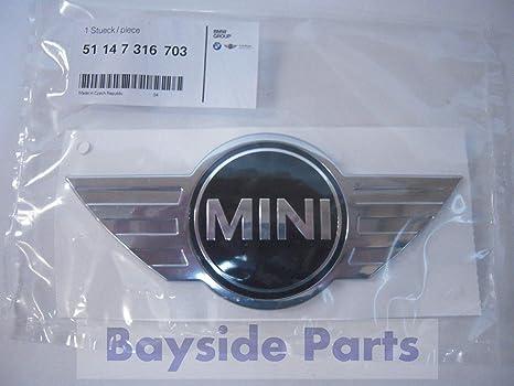 Genuine F55 F56 3 puertas 5 puertas Mini emblema Logo OEM 51147316703