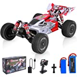 Remote Control Car, Wltoys 144001 RC Car with 2 Batteries, 1:14 Scale 60 Kmh High Speed RC Car, 4WD 2.4GHz Off Road Trucks To