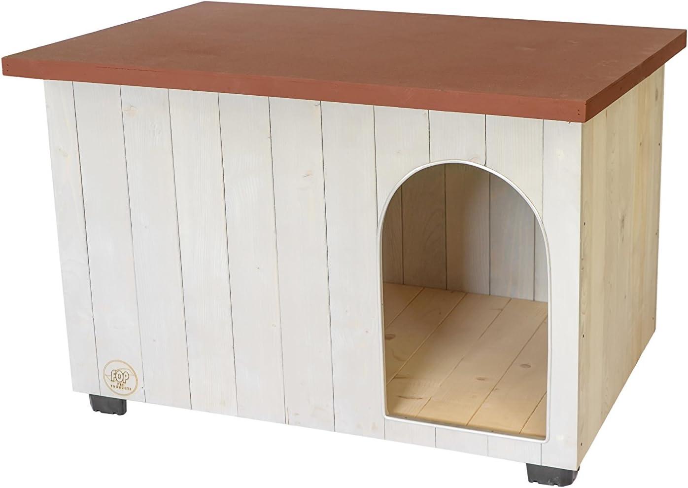 【イタリアFOP】イタリアFOP社製木製犬小屋!ドッグハウス ボルトL