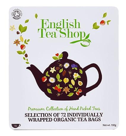 05f44da636a561 Teegeschenk in edler Metalldose - BIO-Tee-Kollektion mit 72 x original  englischem Tee