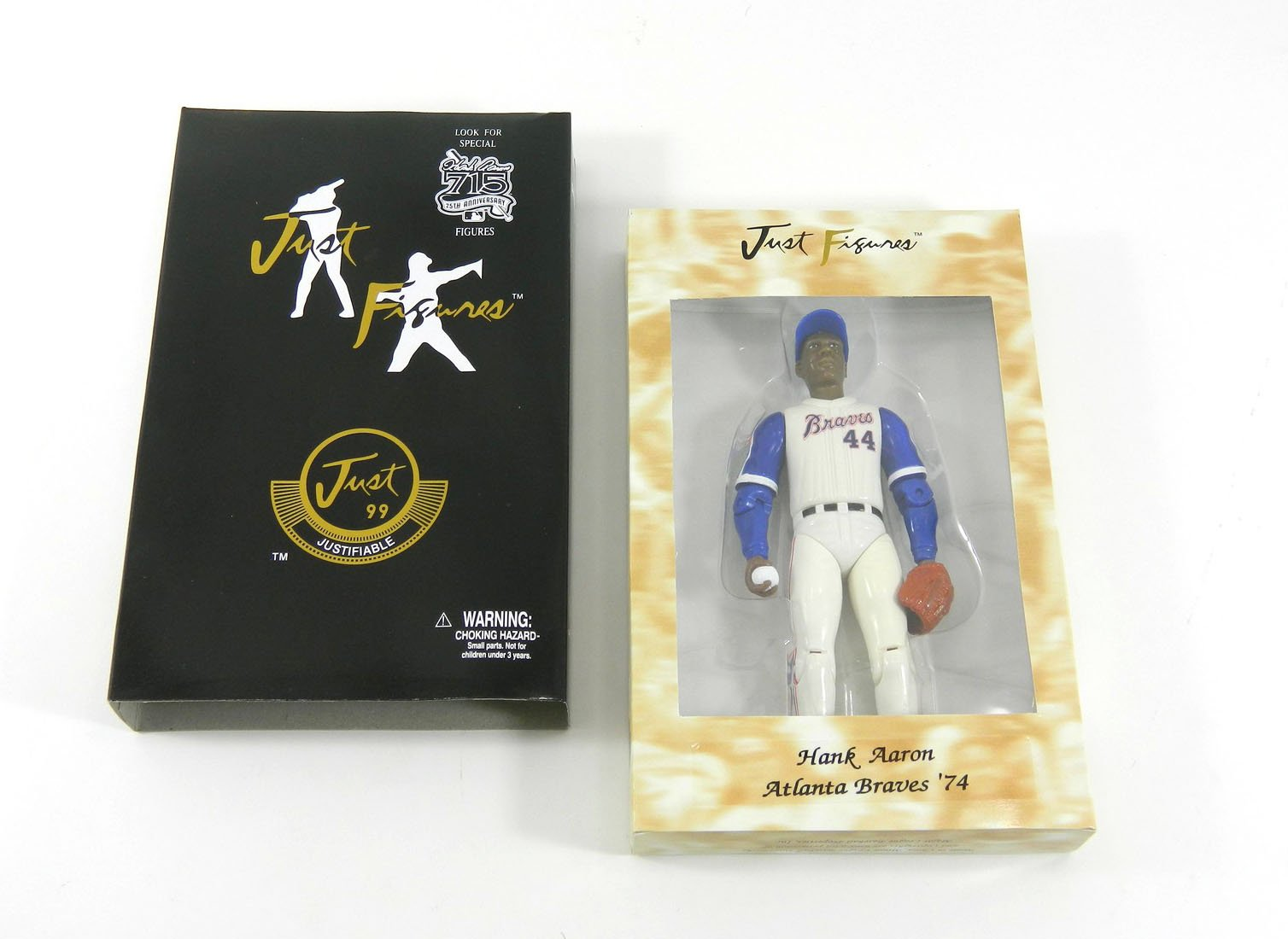 1999 Just Minors Hank Aaron Figure Fielding Pose NIB