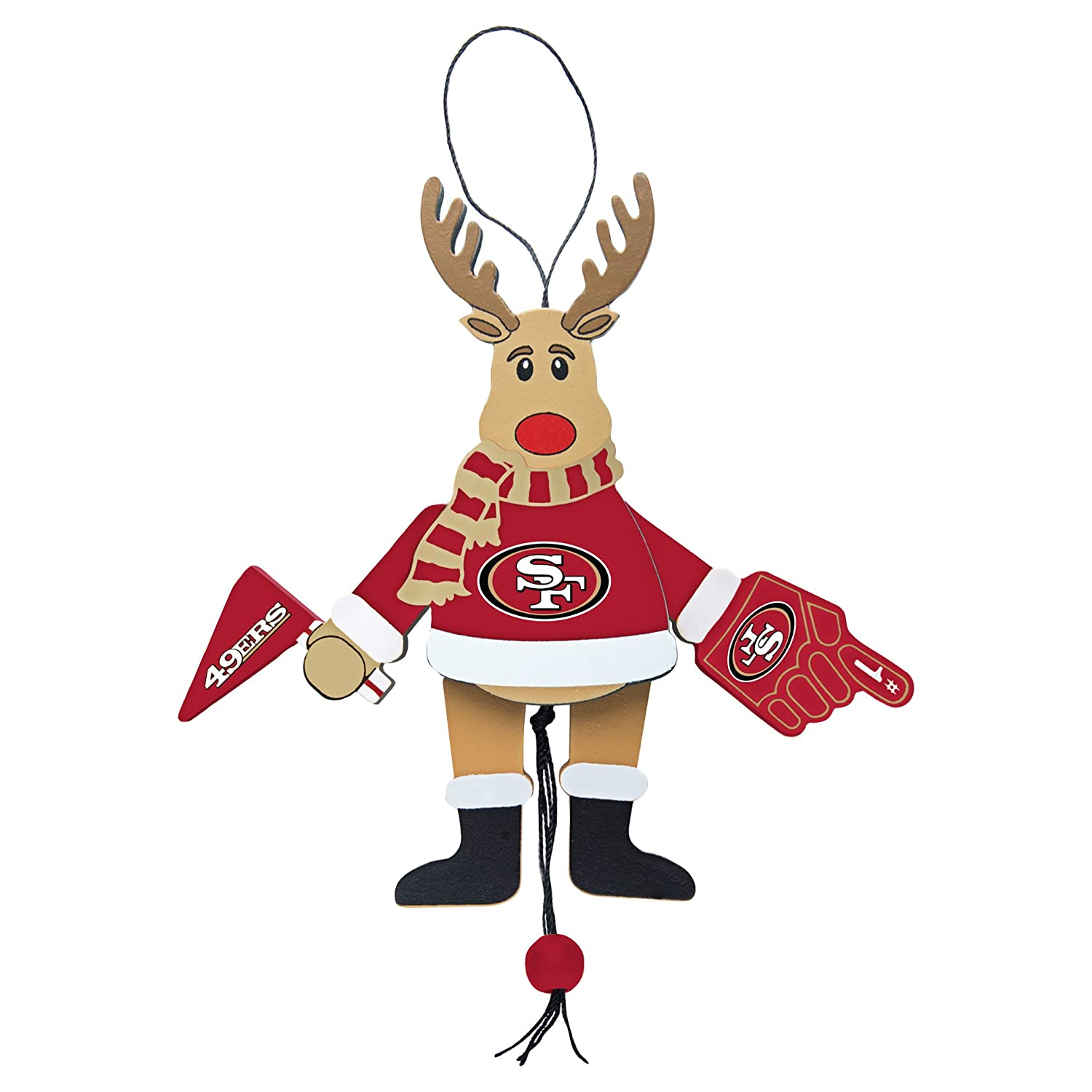 NFL Wooden Cheer Ornament