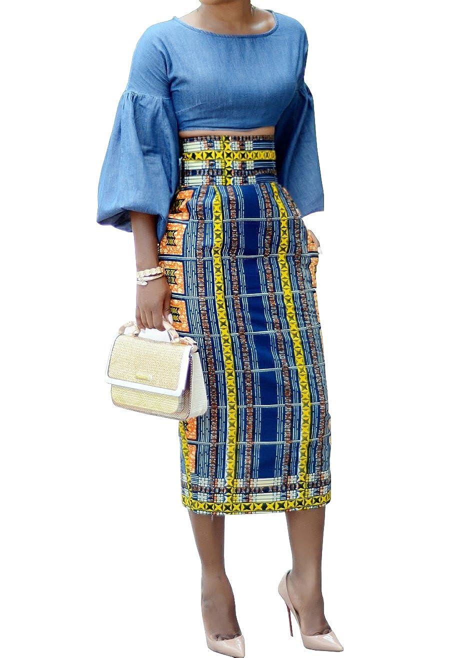 3668852902 2019 African Printed High Waist Skirts | Rosegal.com
