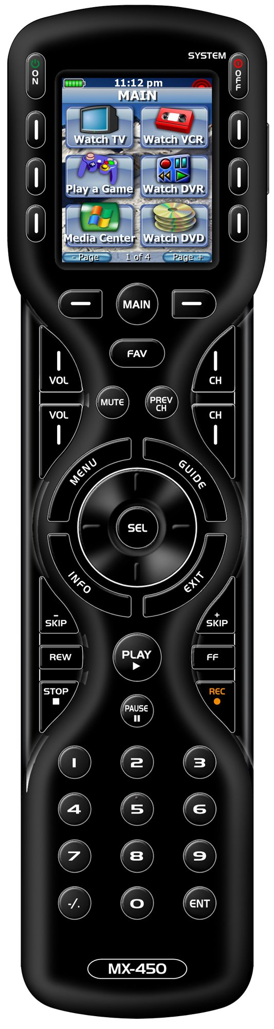 Universal Remote Control MX-450 Custom Programmable Remote Control with On-Screen Macro Editing.