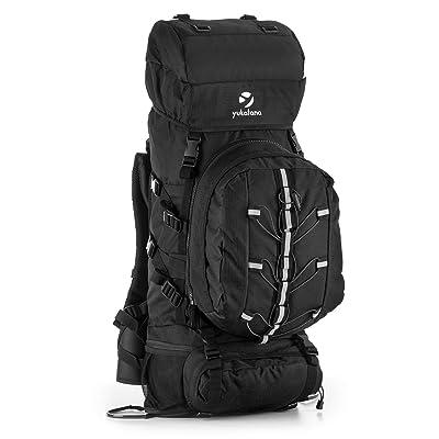 Yukatana Almer - Sac à dos de randonnée et trekking grande contenance de 80L avec Daypack de 10L amovible (40x80x35cm, protège pluie inclus, dos renforcé)