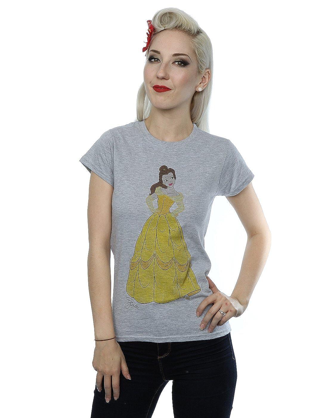 a732e2ede9e1c Amazon.com  Disney Women s Beauty and The Beast Classic Belle T-Shirt   Clothing