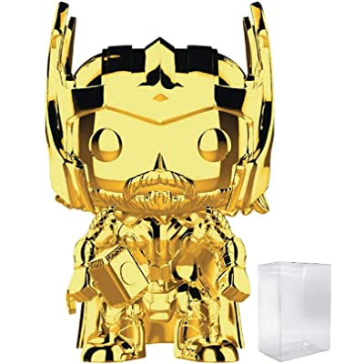 Marvel Studios 10th Anniversary - Thor (Gold Chrome) Funko Pop! Vinyl Figure (Includes Compatible Pop Box Protector Case): Toys & Games