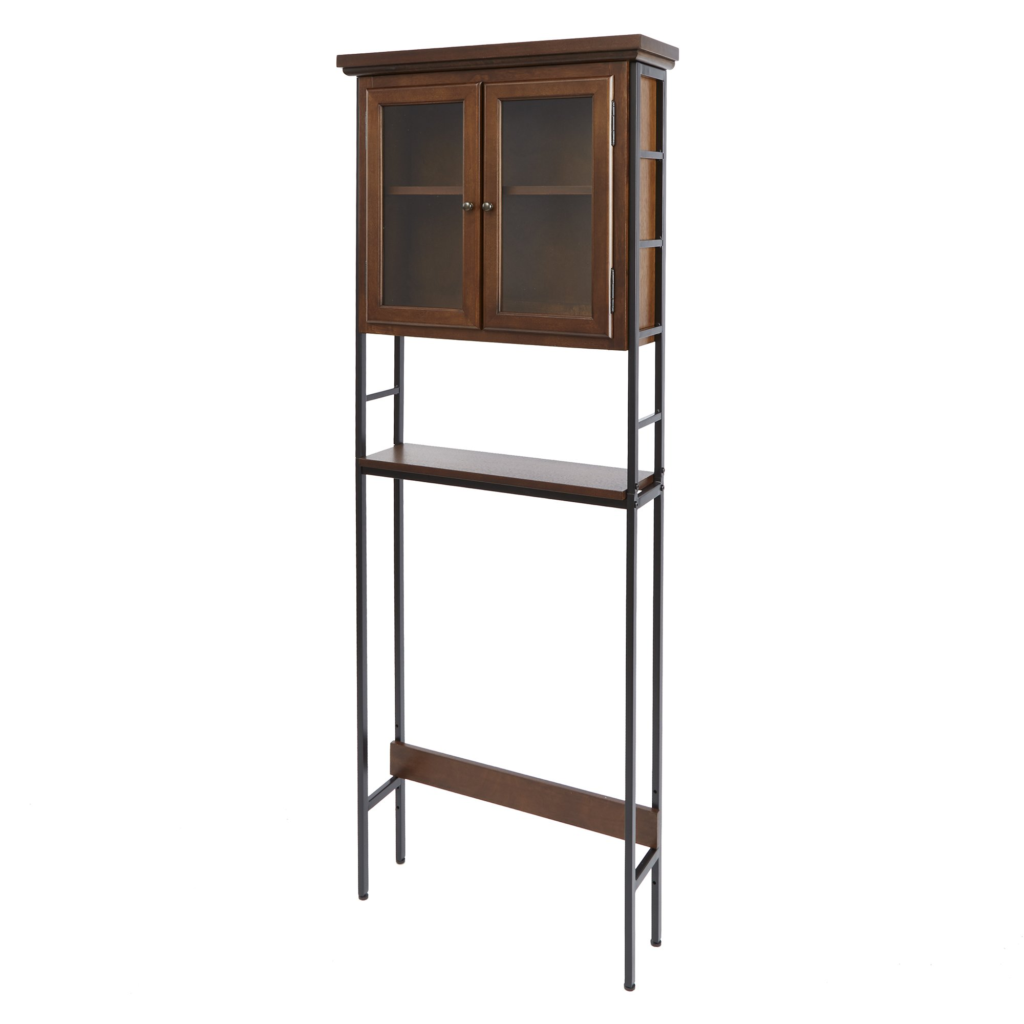 Silverwood Leighton Bathroom Collection 3-Tier Space Saver with Glass Doors 3, 67.5'' H