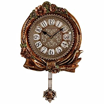 Reloj De Pared Vintage Antique Art Creativo Reloj Reloj Reloj De Pendulo Casa Atmósfera De Lujo Clasico Reloj De Pared De La Sala: Amazon.es: Hogar