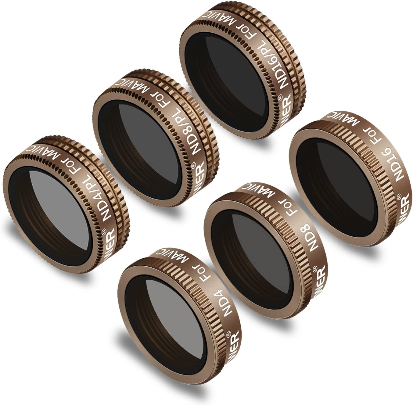ND32 ND32//PL ND64//PL Multi Coated Filters Pack Accessories 4 Pack Neewer Lens Filters for DJI Mavic 2 Pro Camera Lens Set ND64