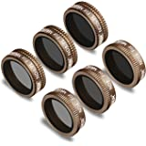 Neewer 6 Pieces Pro Lens Filter Kit for DJI Mavic Air Drone Quadcopter Includes: ND4, ND8, ND16, ND4/PL, ND8/PL, ND16/PL, Mad