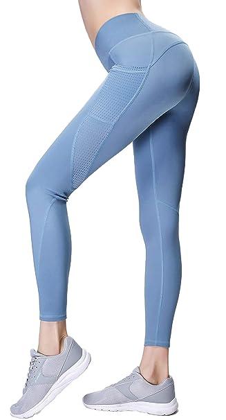 Gmardar Mallas para Mujer Cintura Alta Pantalones de Yoga Largos de Talle Alto Elásticos Transpirables Leggins Pantalón Deportivo de Mujer para ...