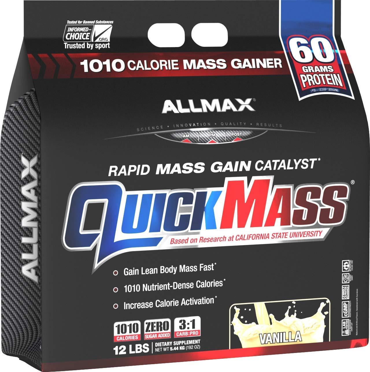 ALLMAX Nutrition QuickMass Rapid Mass Gain Catalyst, Vanilla, 12 lbs