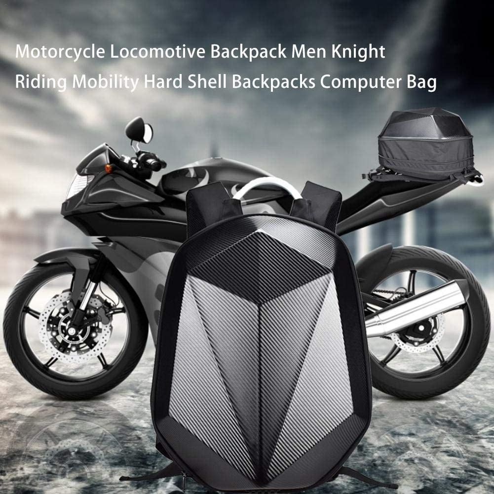 Borsa per Moto Resistente Ad Alta capacit/à con Guscio Rigido Zaino Impermeabile in Fibra di Carbonio Scalabile per Andare in Bicicletta Dire-wolves Zaino per Moto