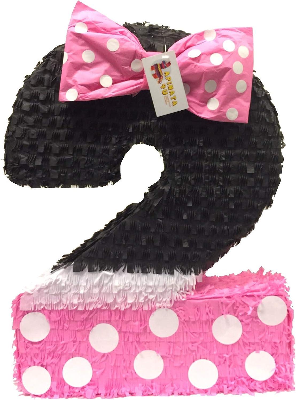 APINATA4U Pink /& Black Number Two Pinata