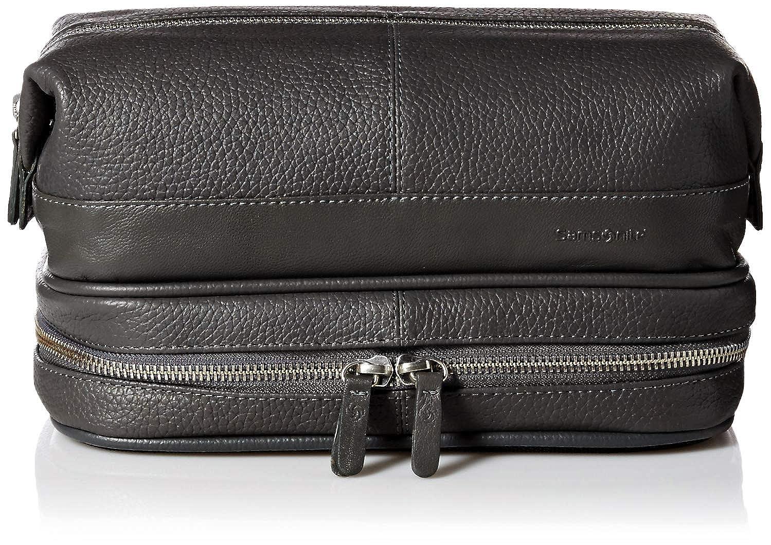 Samsonite- Leather Travel Accessories APPAREL ユニセックスアダルト B07DVPHPMD ブラック