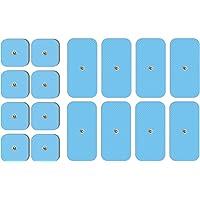 set van 16 TENSPAD SILVER-elektroden compatibel met Beurer, Bluetens, Sanitas, Vitalcontrol-apparaten (8 eenheden 50x50…