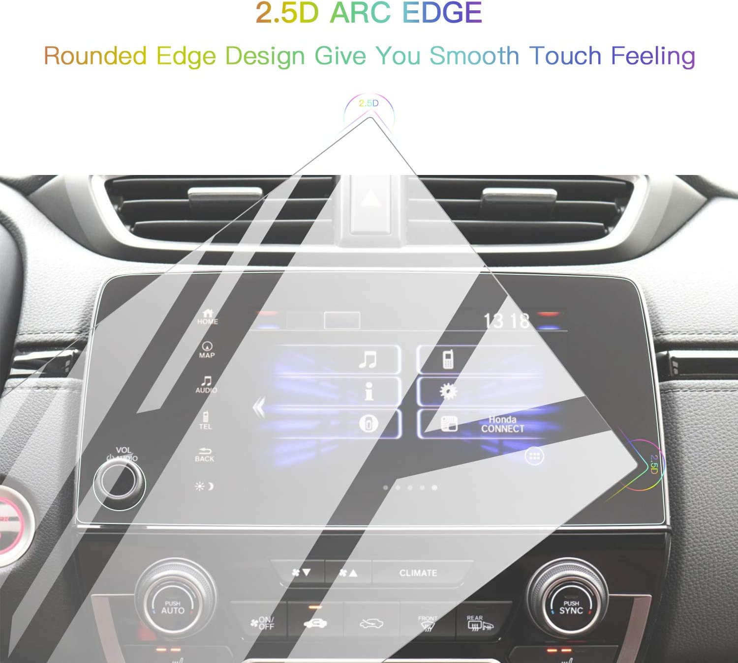 Screen Protector Foils for 2017-2021 CR-V CRV 7In Navigation Display Tempered Glass 9H Hardness Anti Glare /& Scratch HD Clear Honda LCD GPS Touch Screen Protective Film