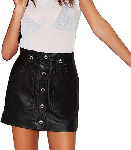 MEDIA WAVE store ® 61521 Falda de Cintura Alta Modelo Ember con ...