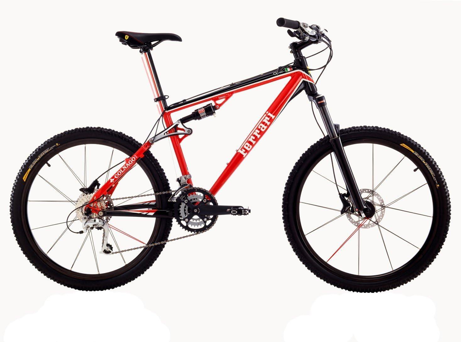 FERRARI CX60-L - Bicicleta Doble suspensión, Color Rojo: Amazon.es ...