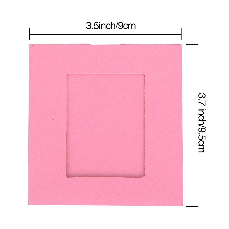 20 Stück Papierrahmen Papier Fotorahmen Bilderrahmen mit 20 Stück ...