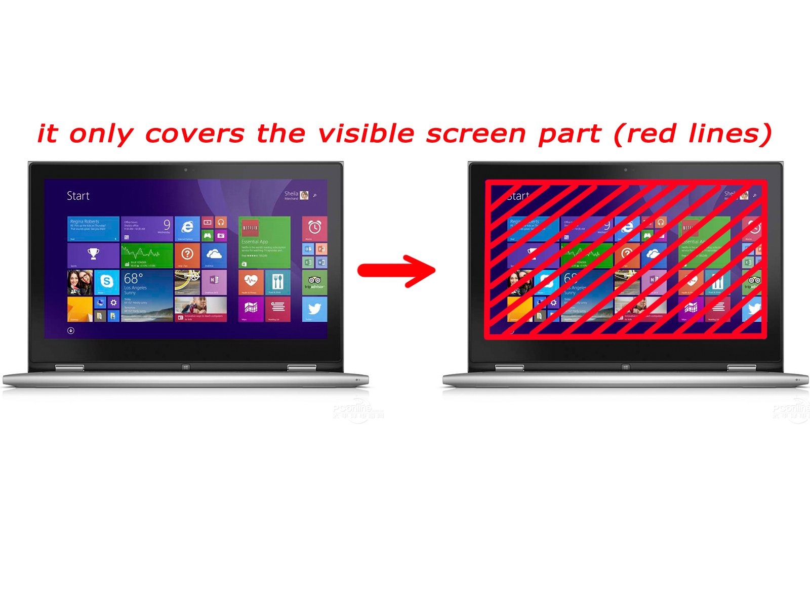 BingoBuy® anti glare & anti fingerprint & anti scratch Screen Protector Cover Film (only cover visible screen part like ads, length 345mm x width 194.5mm) for 15.6'' 16:9 Toshiba Satellite C655, C655D, L655, L655D, L650, L650D, L750, L750D, L755, L755D,