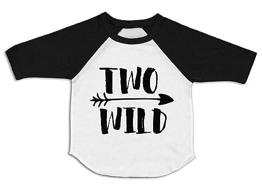 Two Wild Shirt 2nd Birthday Raglan 2 3 Toddler