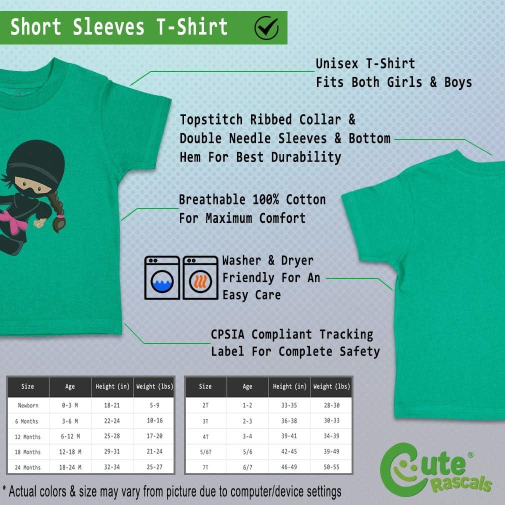 Custom Baby /& Toddler T-Shirt Ninja Girl Pose 5 S Cotton Boy Girl Clothes