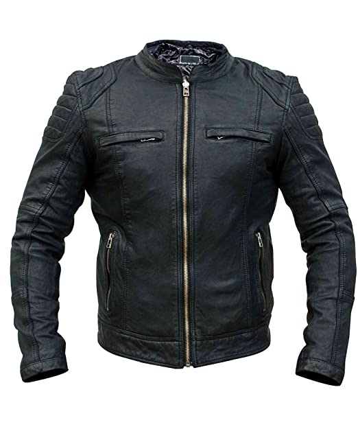 Yezz Clothing - Chaqueta - piel - para hombre: Amazon.es: Ropa y accesorios