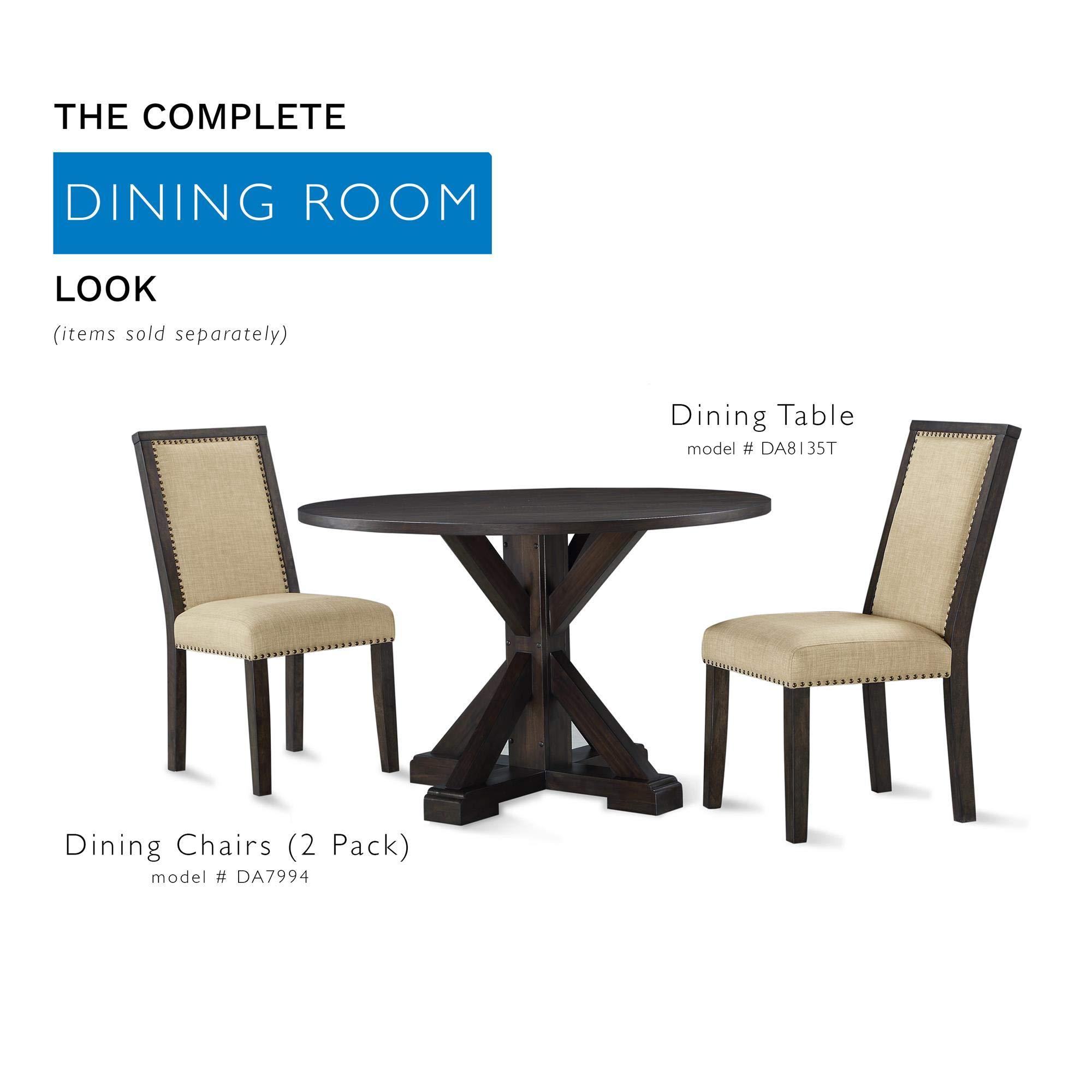 Dorel Living DA8135T Lanley Round, Rustic Brown Dining Table, by Dorel Living (Image #4)