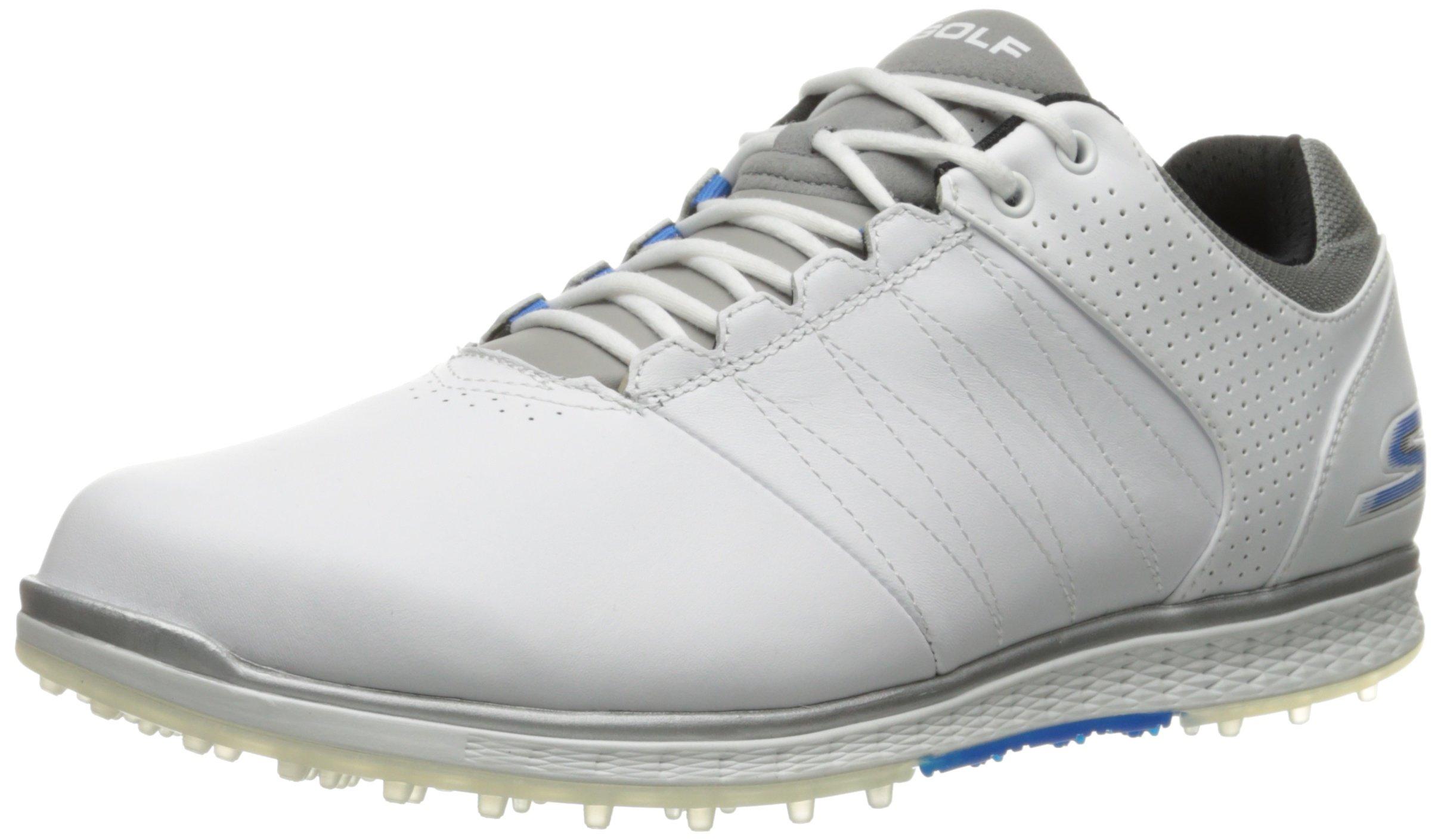 Skechers Performance Men's Go Golf Elite 2 Wide Golf Shoe,White/Gray/Blue,10 W US by Skechers