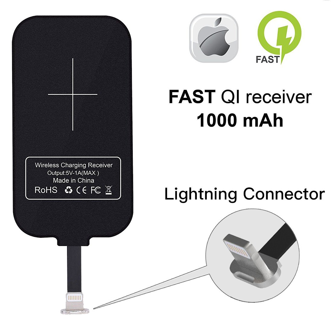 promo code c77a7 b3416 Nillkin iPhone Wireless Charging Receiver Magic Tag Qi Wireless Charger  Receiver 1000mAh for iPhone 7/6/6S/Plus