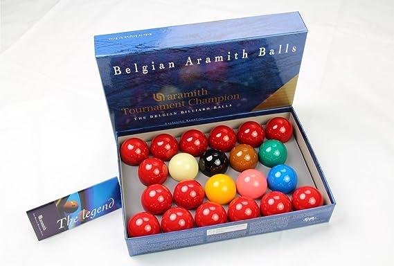 Aramith Tournament TV - Juego de Bolas para Snooker (52,4 mm): Amazon.es: Deportes y aire libre