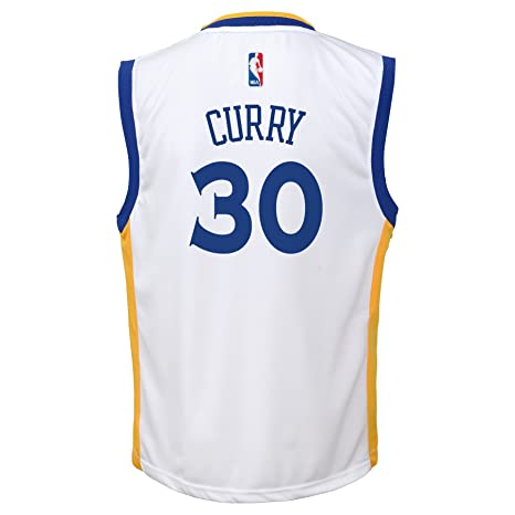 Outerstuff NBA Golden State Warriors Stephen Curry Youth 8 - 20 Réplica de Jersey Local, Infantil, Blanco: Amazon.es: Deportes y aire libre