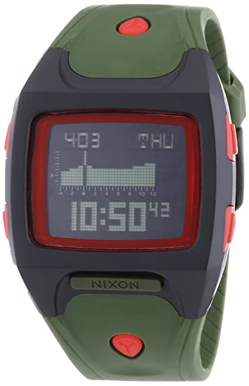 Nixon A4981048-00 - Reloj digital de cuarzo para mujer con correa de plástico, color verde: Amazon.es: Relojes