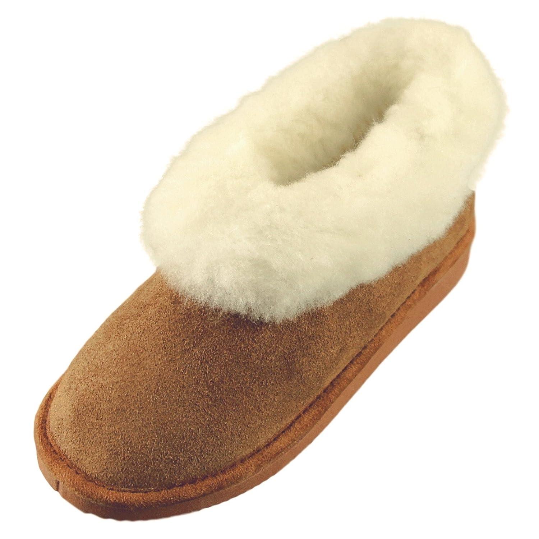 Deluxe Ladies Harper Sheepskin Slipper Boots - Sheepskin Slippers -  Chestnut (9): Amazon.co.uk: Shoes & Bags