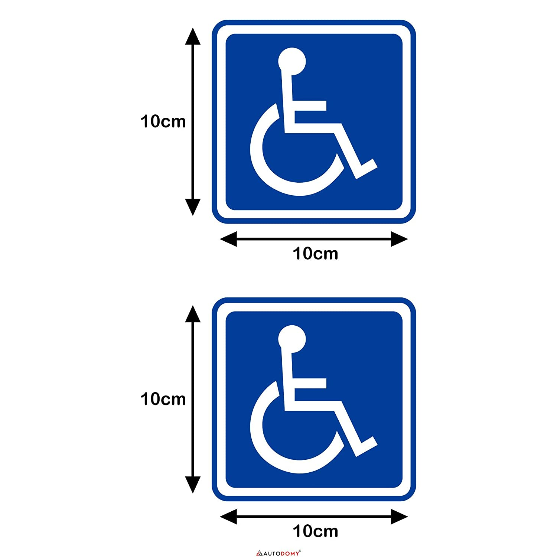 Autodomy Pegatinas Discapacitado Minusv/álido Pack 2 Unidades para Uso Externo Coche Furgoneta Cami/ón