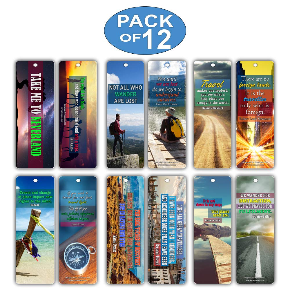 But Theyre Only 12 Why And How To Begin >> Amazon Com Creanoso Inspirational Saying Quotes Travel Bookmarks