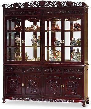 Amazon.com: ChinaFurnitureOnline Rosewood China Cabinet, 72 ...