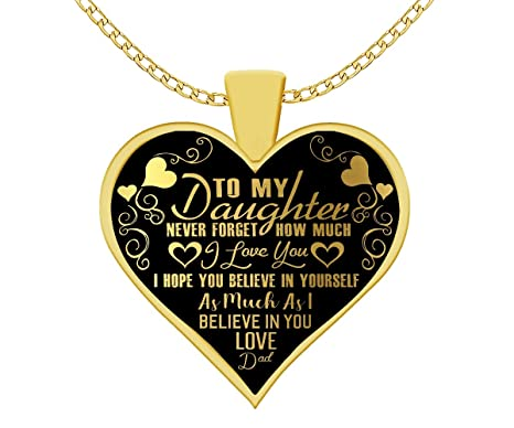 79dbd7ce24f90 Amazon.com: MidaProDesigns To My Daughter Never Forget How Much I ...