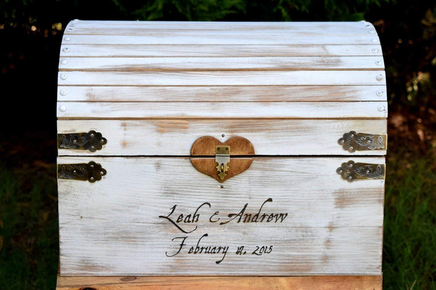 Lockable Card Chest with Card Slit Shabby Chic Card Box Rustic Wedding Card Box White Distressed Extra Large Rustic Wooden Card Box