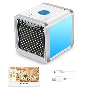 caf97695b0d0a VICTOREM Mini aire acondicionado Space portátil Aire enfriador USB  Aircooler para casa habitaciones  Amazon.es  Informática