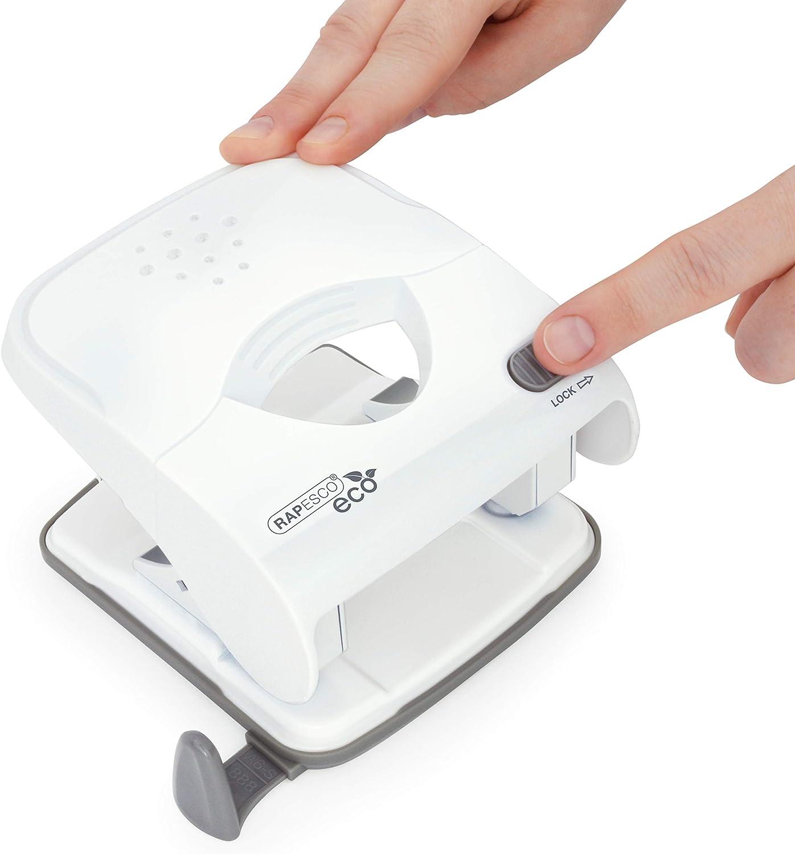 Rapesco X5-30ps Perforatrice 2 Trous 30 Feuilles Effort Minimal Blanc