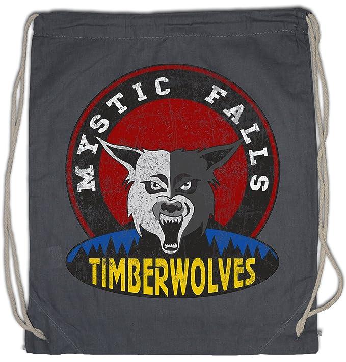 Urban Backwoods Mystic Falls Timberwolves Drawstring Bag Gym Sack