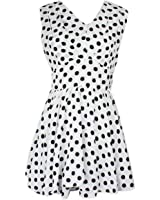 Tonsee New Women Polka Dot Folds Chiffon Dress