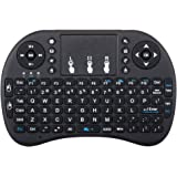 XEDIRECT Mini Wireless Keyboard with Touchpad Mouse 2.4GHz Remote Controller Rechargeable Combos for Google Android Box, Pc, Pad,Smart TV Player(Black)
