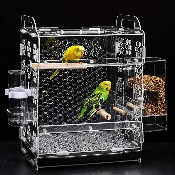 QNMM Parrot Cage Farming Creative Creator Systems Forraje Corral sin Semillas Alimentador de Mascotas, Mantiene la Jaula más Limpia: Amazon.es: Hogar