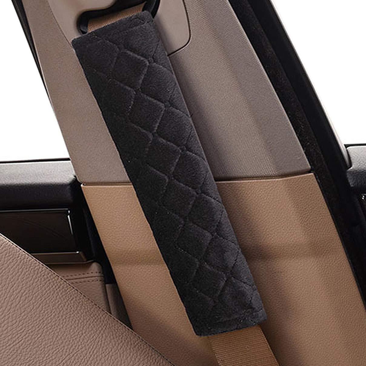 Grigio Imbottiture Cintura Protezioni Comfort per Cintura di Sicurezza Auto Per bambini e adulti auto cintura di sicurezza comfort 2 pezzi Cumay Guaine per cintura di sicurezza