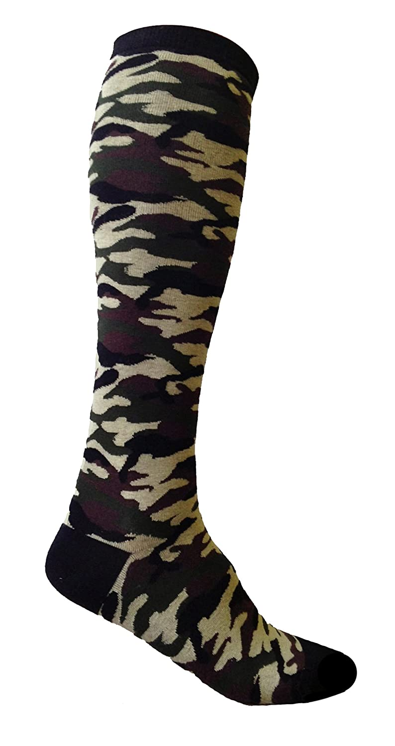 cdc0db68bd6 SoRock Women s Camouflage Knee Socks at Amazon Women s Clothing store